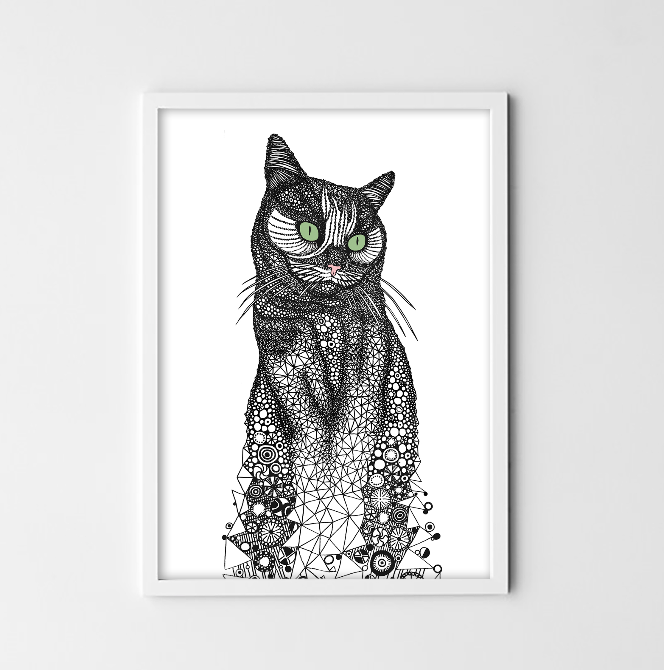 Cat - digital print