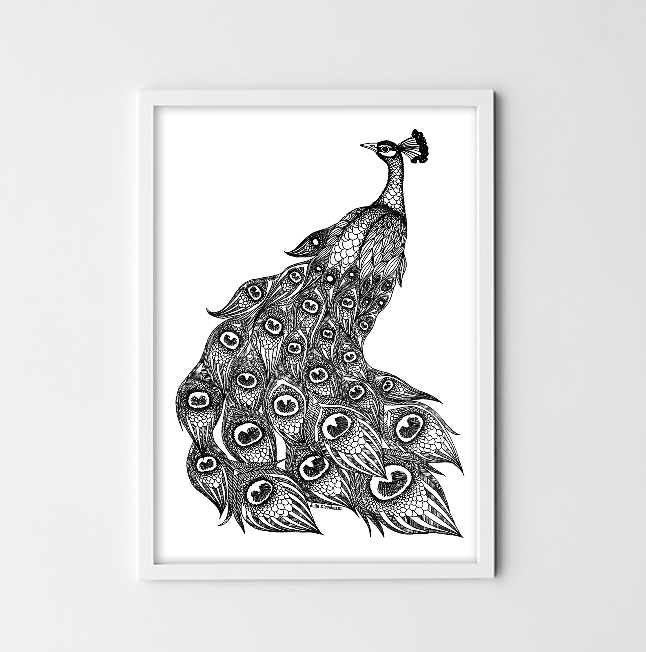 Peacock - digital print